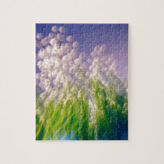 Lily of the Valley Dance in Blue Jigsaw Puzzle