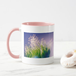 Lily of the Valley Dance in Blue Mug