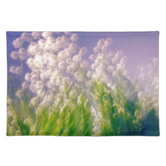 Lily of the Valley Dance in Blue Placemat
