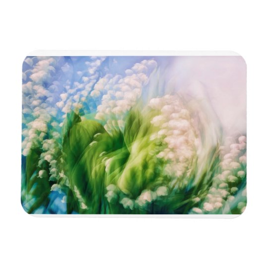 Lily of the Valley Dance in Blue Rectangular Photo Magnet