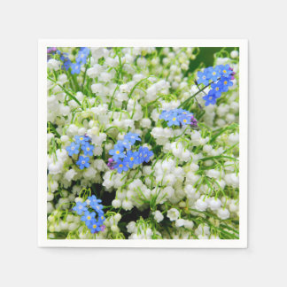Lily of the valley disposable napkin