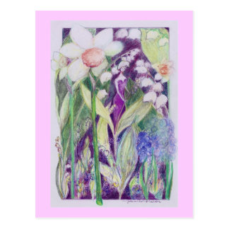 lily of the valley elve postcard