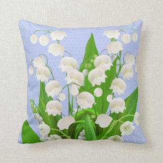 Lily of the valley floral pillow