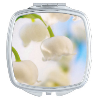 Lily of the Valley Flower and Blue Sky Mirrors For Makeup