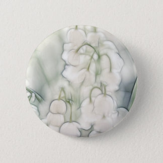 Lily of the Valley Flower Bouquet 6 Cm Round Badge