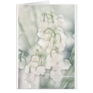 Lily of the Valley Flower Bouquet Card