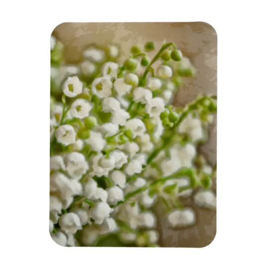 Lily of the Valley Flower Bouquet Sketch Rectangular Photo Magnet
