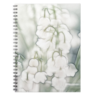 Lily of the Valley Flower Bouquet Spiral Notebook