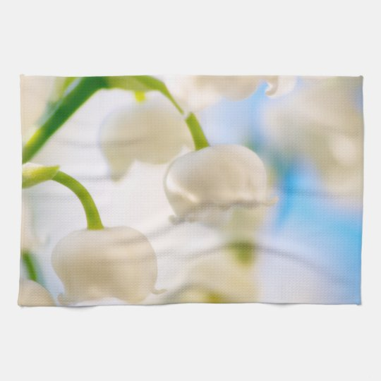Lily of the Valley Flower Close-up Hand Towel