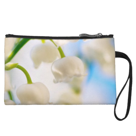 Lily of the Valley Flower Close-up Wristlet