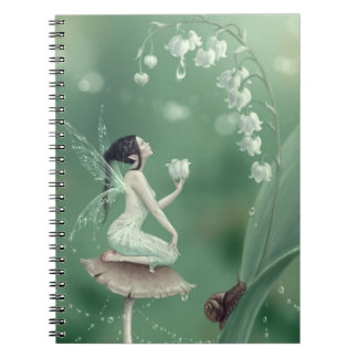 Lily of the Valley Flower Fairy Notebook
