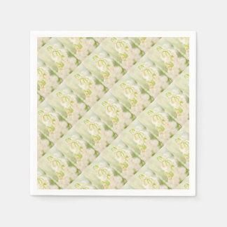 Lily of the Valley Flower Group Sketch Paper Napkin