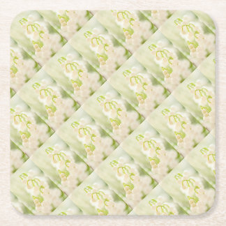 Lily of the Valley Flower Group Sketch Square Paper Coaster