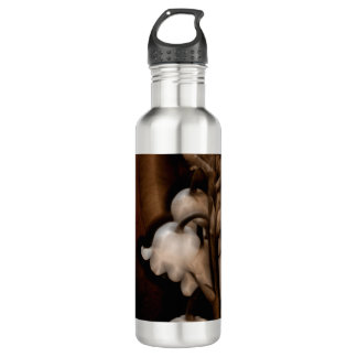 Lily of the Valley Flower in Dark Brown 710 Ml Water Bottle