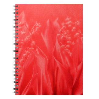 Lily of the Valley Flower in Red Notebooks