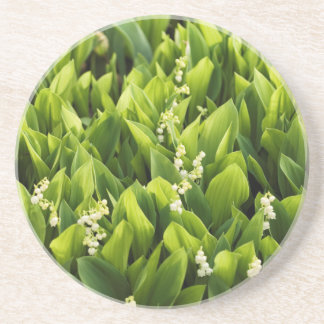 Lily of the Valley Flower Patch Coaster