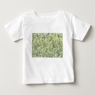 Lily of the Valley Flower Patch in Fog Baby T-Shirt