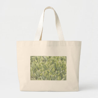 Lily of the Valley Flower Patch in Fog Large Tote Bag