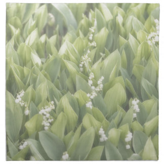 Lily of the Valley Flower Patch in Fog Napkin