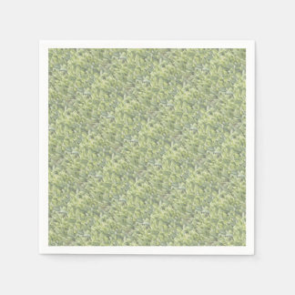 Lily of the Valley Flower Patch in Fog Paper Napkin