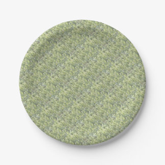 Lily of the Valley Flower Patch in Fog Paper Plate