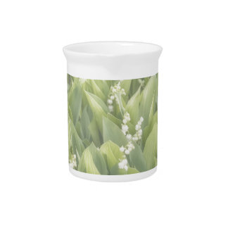 Lily of the Valley Flower Patch in Fog Pitcher
