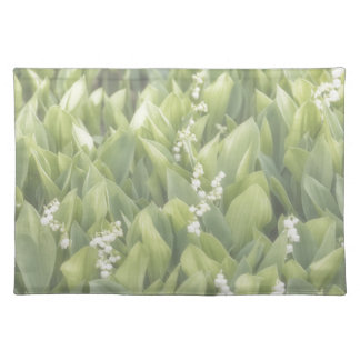 Lily of the Valley Flower Patch in Fog Placemat