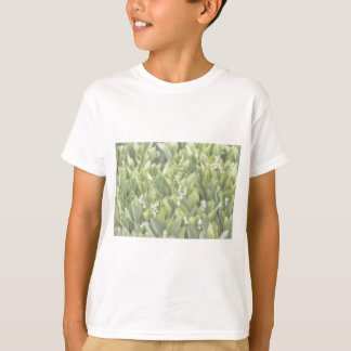 Lily of the Valley Flower Patch in Fog T-Shirt