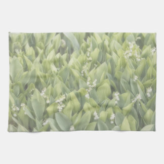 Lily of the Valley Flower Patch in Fog Towels