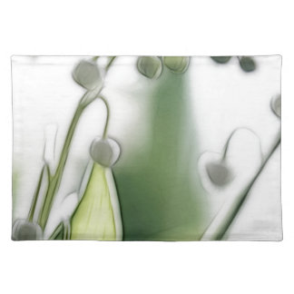 Lily of the Valley Flower Repetition Sketch Placemat