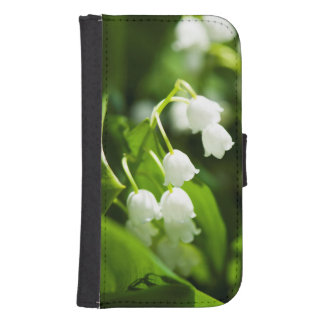 Lily of the valley flower samsung s4 wallet case