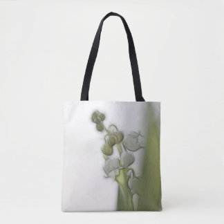 Lily of the Valley Flower Sketch Tote Bag