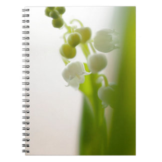 Lily of the Valley Flower Spiral Notebooks