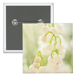 Lily of the Valley Flowers 15 Cm Square Badge