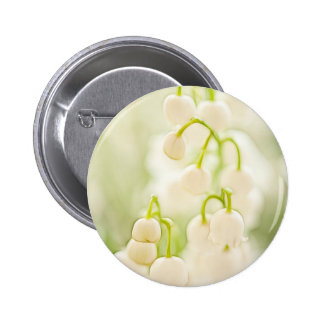 Lily of the Valley Flowers 6 Cm Round Badge