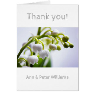 Lily of the Valley Flowers Card