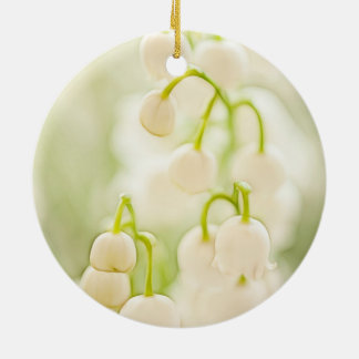 Lily of the Valley Flowers Ceramic Ornament