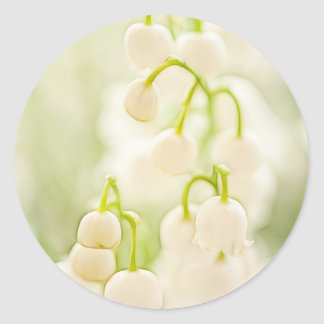 Lily of the Valley Flowers Round Sticker