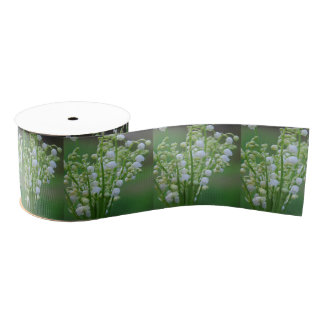Lily of the valley grosgrain ribbon