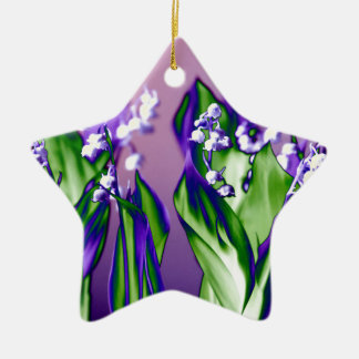 Lily of the Valley in Lavender Ceramic Ornament