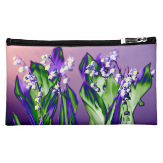 Lily of the Valley in Lavender Cosmetic Bag