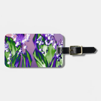 Lily of the Valley in Lavender Luggage Tag