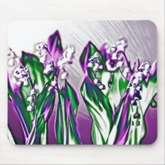 Lily of the Valley in Lavender Mouse Pad