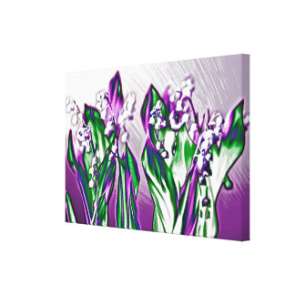 Lily of the Valley in Lavender Sketch Canvas Print