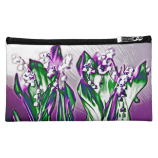 Lily of the Valley in Lavender Sketch Makeup Bag