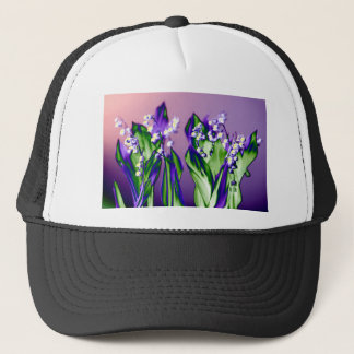 Lily of the Valley in Lavender Trucker Hat