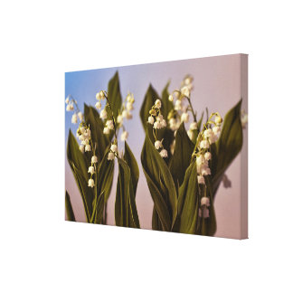 Lily of the Valley in Olive Green Canvas Print