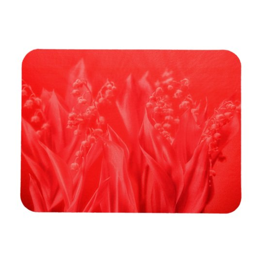 Lily of the Valley in Red Rectangular Photo Magnet