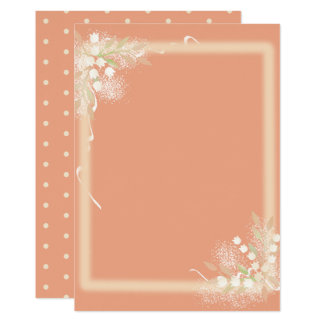 Lily of the Valley Paper Card