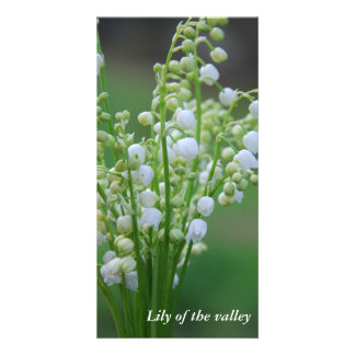 Lily of the valley custom photo card